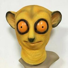 Molezu Halloween Cute Realistic Bee Monkey Latex Mask Adult Full Face Latex Mask | eBay Realistic Halloween Masks, Full Face, Latex, Monkey, Bee, Detail, Playsuit, Monkeys, Bees