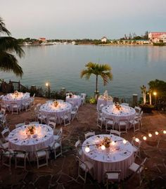 Tropical reception setup in the Bahamas