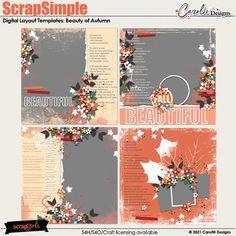 ScrapSimple Digital Layout Collection:beauty of autumn