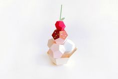Paper Sculptures of Desserts by Charlotte Smith