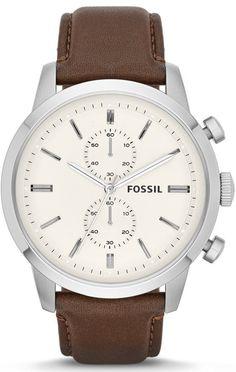 Capri Jewelers Arizona  ~  www.caprijewelersaz.com #Fossil Townsman Chronograph Leather #Watch - Brown FS4865