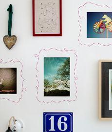 moldura curvas. kit com 3 molduras adesivas para fotos. Criado por Ana Luisa Brandão.