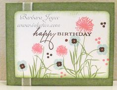 CC487 - Soft, Soft Flowers by bejoyce - Cards and Paper Crafts at Splitcoaststampers