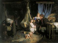 Корзухин Алексей Иванович (1835 - 1894) Возвращение из города. 1870