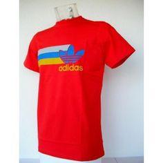 Camiseta Adidas Rayas Rojo
