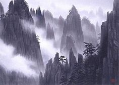 Japanese Mountain paintings and prints 2 - Japanese Painting Gallery Chinese Landscape Painting, Japanese Landscape, Japanese Painting, Landscape Paintings, Landscapes, Chinese Painting, Chinese Mountains, Japanese Mountains, Mountain Sketch