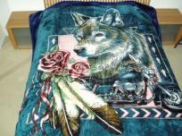 "Wolf Bike Mink Style Super Plush Blankets 95"" x 79"""