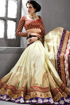 New Arrivals...  Presenting Cream Tussar Silk #Saree with Embroidered,Patch Work and Lace Work  Order Now@ http://zohraa.com/cream-tussar-silk-saree-mn2601.html Rs. 6,599.