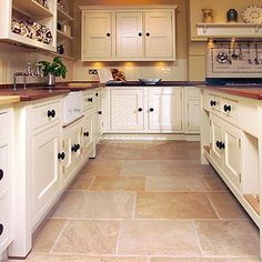 English Limestone Flooring, Cotswold Bath Purbeck & Lincolnshire … stone or tile fireplace Gone are the days when decorating was a one-and-d. Stone Kitchen, Kitchen Tiles, Kitchen Flooring, New Kitchen, Kitchen Decor, Garage Flooring, Bedroom Flooring, Limestone Flooring, Natural Stone Flooring