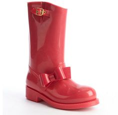 RED Valentino pink rubber bow detail rain boots on shopstyle.com