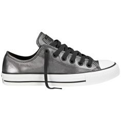 Converse Chuck Taylor All Star Shift Trainers , Silver Leather ($91) ❤ liked on Polyvore featuring shoes, sneakers, silver leather, sport shoes, sport sneakers, converse shoes, silver flat shoes and flat sneakers