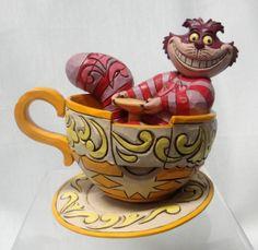 Disney Parks Jim Shore Alice in Wonderland Cheshire Cat in Tea Cup Figurine Disney Dream, Disney Love, Disney Magic, Disney Stuff, Alice In Wonderland Room, Adventures In Wonderland, Disney Statues, Figurine Disney, Chesire Cat