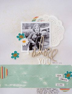 hybrid layout made with physical products and digi products from laura passage at the digital press