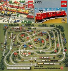 Best Selling Christmas Gifts from 1980 to 2011 ~ Damn Cool Pictures Lego Train Tracks, Lego Trains, Lego Bahn, Lego Sets, Lego Winter, City Layout, Classic Lego, Lego Modular, Lego Blocks