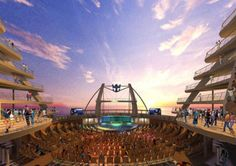 Oasis of the Seas - Royal Caribian ship. The stage at the end.
