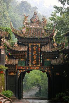 Portão de entrada, Chengdu, China