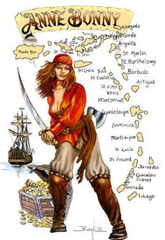 Anne Bonny (unknown, possibly 1697 – unknown, possibly April 1782) was an Irish pirate operating in the Caribbean, and one of the most famous female pirates of all time.