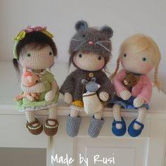 ❤ #crochet #crochetdoll #amigurumi #amigurumidoll #handmade #lovecrochet #madebyrusi #rusidolls