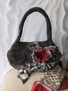 """Felted Bag """"Marble Dreams""""."""