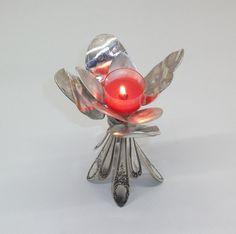 Silberbesteck Kerzenleuchter Kerzenständer Kerze von Atelier Regina auf DaWanda.com