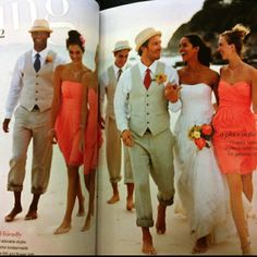 Love the bridesmaid dress and the men's suits!