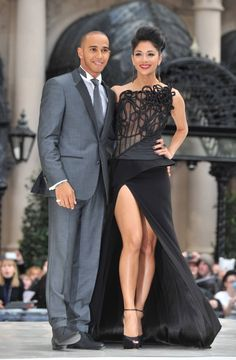 Nicole Scherzinger and Lewis Hamilton at MIB 3 premiere....I love this dress....SPICY!!!!