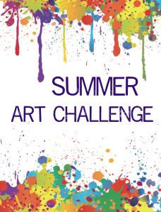 Summer Art Challenge Art:  send kids home on the last day with a list of art ideas, have them bring in the art or photos on the first day to display, give prizes or treats for participation