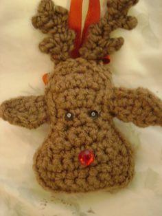 Christmas reindeer ornament crochet