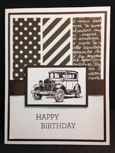 Guy Greetings, Crazy about You, Masculine Birthday Card, Stampin' Up!, Rubber Stamping, Handmade Cards