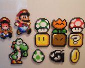 Small Mario Perler Bead Magnets. $3.00, via Etsy.
