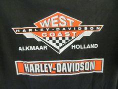 Holland Dealer Vintage Harley Davidson Motorcycle Shirt West Coast Harley T Shirt  ReVintageBoutique.Etsy.com