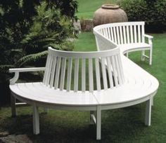 Love this curved bench