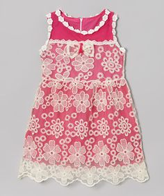 Another great find on #zulily! Rose Floral Lace Dress - Girls #zulilyfinds