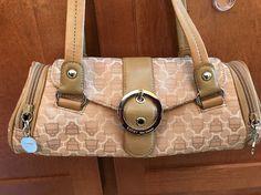 KATHY VAN ZEELAND Brown Pink Inside Multi Pockets Handle Flap Satchel Bag Purse #KathyVanZeeland #Satchel
