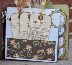 Create Your Own Recipe Scrapbook Homemade Recipe Books, Homemade Cookbook, Scrapbook Albums, Scrapbook Cards, Scrapbooking Ideas, Family Recipe Book, Family Recipes, Scrapbook Recipe Book, Folder Diy
