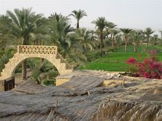 El Fayoum, Egypt which is situated about 1 hour from Cairo, was converted into fertile agricultural land more than 3500 years ago through the construction of channels and dykes connecting it with the Nile river.