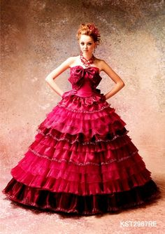 cute #red #ballgown dress
