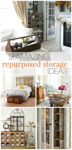 See how you can create more storage for your home and give it a touch of vintage charm. These stylish and trendy ideas will inspire you to add some flea market finds to your home that will give you more storage and organize any space.