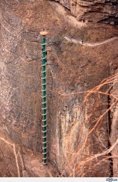 """Spiral Staircase in Taihang Mountains , China  (If I had a category called """"Just Crazy"""" I would have put it under that!!)"""