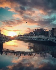 A strikingly unique white-picketed beauty, the Ha'penny Bridge is famously known as the first pedestrian bridge to span over the river Liffey. Dublin City, Dublin Street, Scotland Travel, Ireland Travel, Scotland Trip, Spa Day Packages, Dublin House, Grafton Street, Paisajes