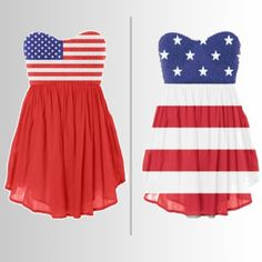 I need one of these dresses. Patriotic!