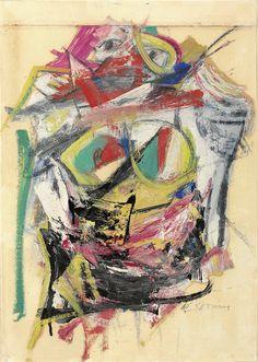 'Woman (Blue Eyes)' by Willem de Kooning, 1953