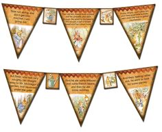 BuY OnE GeT OnE FREE -Peter Rabbit Pennants-Garland-Flags-Printable Collage Sheet Download JPG Digital File-Create Your Own Banner. $2.50, via Etsy.