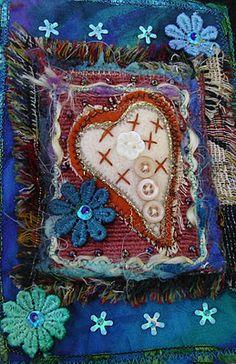 Judy's Fabrications: fabric post cards, felt shapes