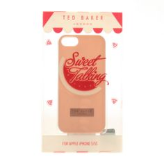 Buy Womens Ted Baker Jemina Rubber iPhone 5 Case in NudePink at Hurley £19