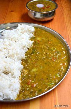 Whole Green Moong Dal Recipe Lentil Recipes, Curry Recipes, Lentil Dal Recipe, Chutney Recipes, Vegetable Recipes, Green Moong Dal Recipe, Dal Fry, Desi Food, Cooking Recipes