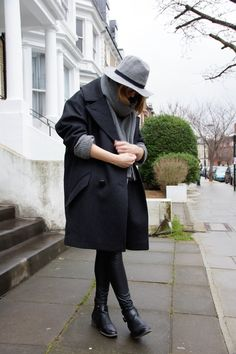 THE LONDON LOOK | isabel marant pour h&m coat, h&m knit, calzedonia leggings, acne studios scarf, deichmann shoes, zara bag, and other stories bracelet, h&m rings, forever 21 hat
