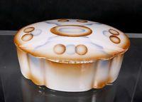 art Deco Spritzdekor Deckeldose mit geom. Bauhaus Dekor