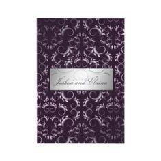 Image detail for -311 Silver Divine | Eggplant >> Wedding Invitations