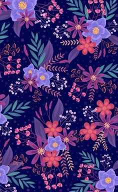 Spring Wallpaper, Flower Wallpaper, Disney Wallpaper, Iphone Background Wallpaper, Cellphone Wallpaper, Folk Art Flowers, Apple Watch Wallpaper, Cute Patterns Wallpaper, Plant Illustration